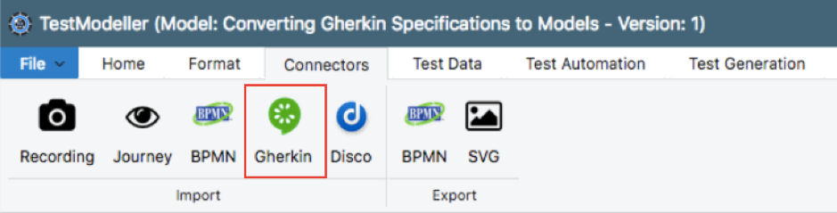 Connectors_Gherkin_Importing Gherkin Specifications 1
