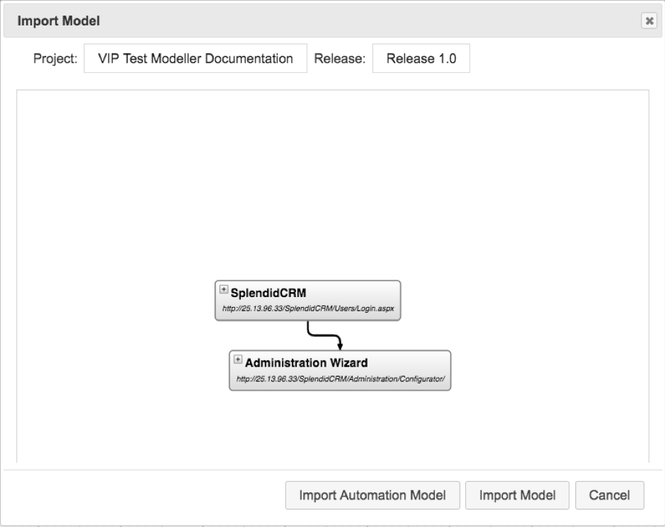 Generate Models from Recorded Activity in The VIP Test Modeller_2