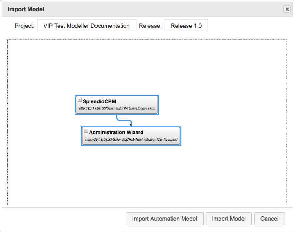 Generate Models from Recorded Activity in The VIP Test Modeller_3