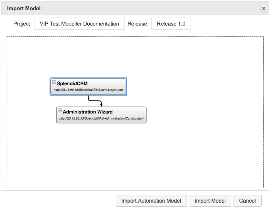 Generate Models from Recorded Activity in The VIP Test Modeller_4