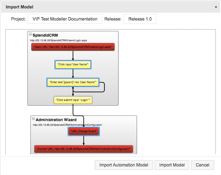 Generate Models from Recorded Activity in The VIP Test Modeller_5
