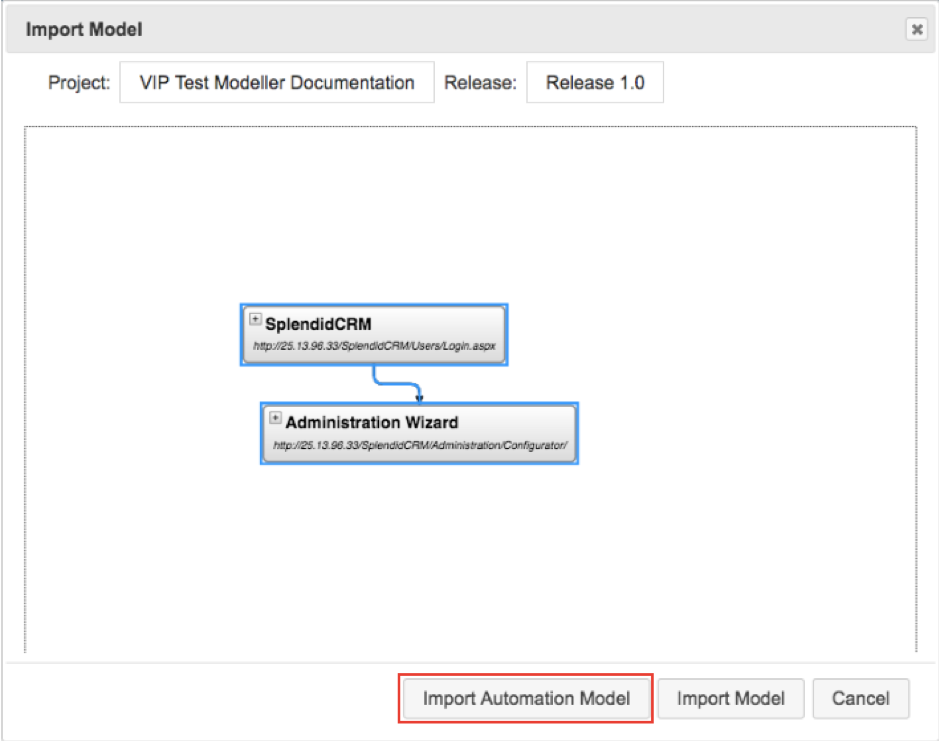 Generate Models from Recorded Activity in The VIP Test Modeller_8