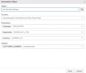 Test Modeller Automation object parameters example