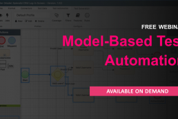 Model based test automation. Webinar now available on demand.